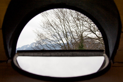 Window on Mount Pilatus - Lucerne