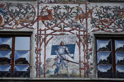 "Wall mosaic - ""Old Town"", Lucerne"