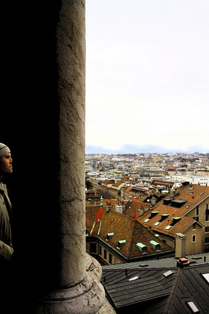 Me in Geneva, Switzerland. Photo by David Marks. January 2012.