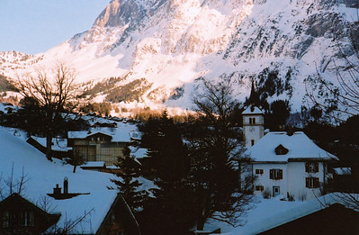 Grindelwald, Switzerland. Photo by Steve Elkins. January 2012. 35mm film.