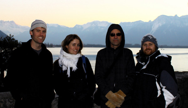 From left to right:  Steve Elkins, Marie Mart Roijackers, Ben Eshbach, David G. Marks January 2012.
