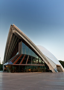 """OH 113   Sydney, Australia, Opera House.  View of the front of one of the """"sails""""."""