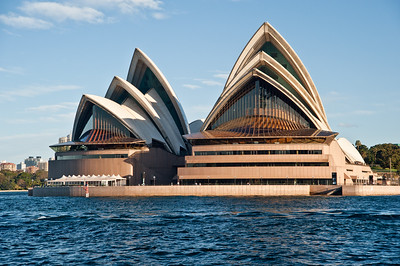 OH 103  Sydney, Australia, Opera House.  A ferry cruise allows a different perspective of the Opera House.