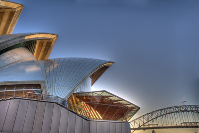 OH 114   Sydney, Australia, Opera House, picture taken as the sun was setting.