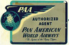Early 1950's Emblem for Authorized Agents for Pan American World Airways
