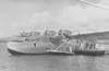 November 11, 1935...Pan American Airway's China Clipper piloted by Captain Edwin C. Musick, made the first transpacific airmail flight from San Francisco to Honolulu, Midway Island, Wake Island, Guam, and Manila, The Philippines. <br /> <br /> Pan Am's China Clipper prepares for another flight on November 23, 1935 - Pearl Harbor, Honolulu Hawaii.<br /> <br /> November 23, 1935 - China Clipper arrives in Pearl Harbor. 3,000 people showed up to watch the arrival of the Pan Am China Clipper.