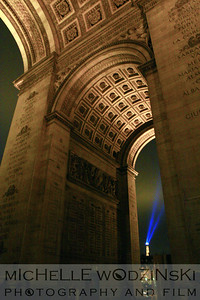 Eiffel Tower through Arc de Triomphe_michelle wodzinski