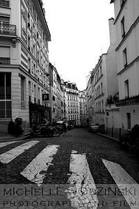 Quiet Montmartre Street_Michelle Wodzinski