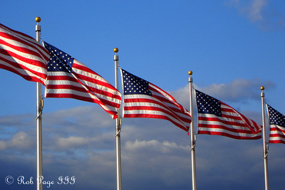 American Flags around the Washington Monument - Washington, DC ... October 24, 2006 ... Photo by Rob Page III