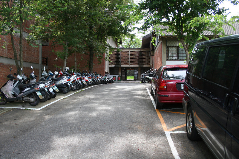 "Taiwan was definitely ""Scooter Heaven"".  You can tell by the lines that that area was actually intended for scooter parking and it was completely full every time we walked past (except maybe late at night)."