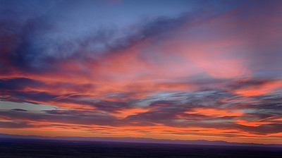 A beautiful sunset over Great Sand Dunes National Park, Colorado...May 24, 2013
