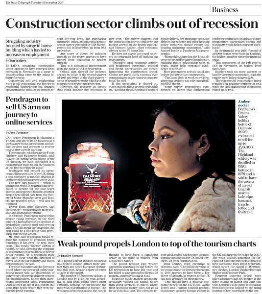 Bonhams Whisky Sale - The Daily Telegraph