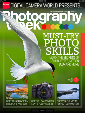 "Photography Week - December 2012 - Cover<br /> <br /> ""Meet an Inspirational Landscape Amateur"" featured on the cover"