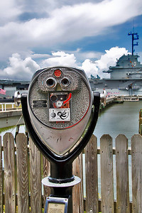 Patriots Point in Charleston SC.. with the USS Yorktown in the distance!