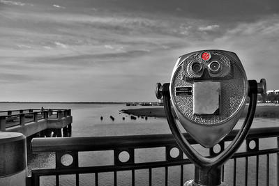Telescopic View at Charlestons Waterfront Park...