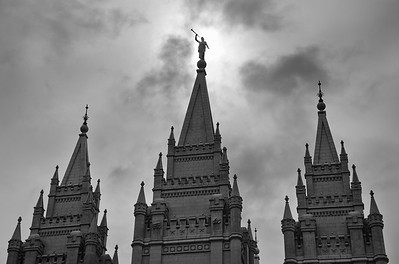 Moroni against the clouds