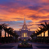 Gilbert Arizona Temple Sunset