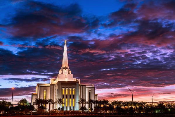 Gilbert Arizona Temple Sunrise