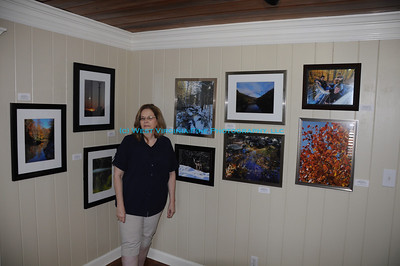 This is my friend, Deborah Ankrom Kepes.  She is the owner of the Cobble Creek Studios & James H. Ankrom Gallery, located near Atlanta, Geogia.  She was kind enough to invite me to hold my first exhibit outside of West Virginia.  Thanks, Deb!