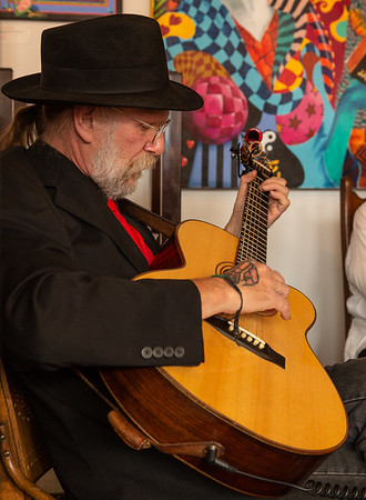 Terry Tufts, Jay Kassirer and Rita Finnigan at the Britannia Coffeehouse