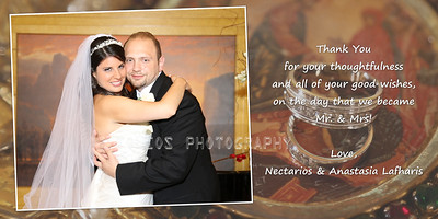 photo wedding thank you card lafharis