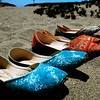 Wedding shoes;<br /> Bodega Bay, California
