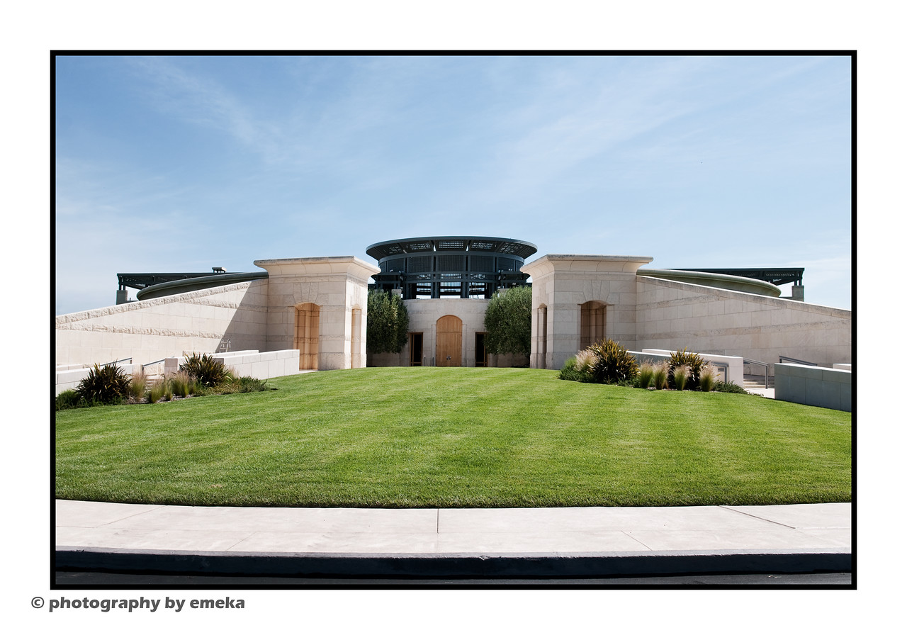 A view of Opus One Wineries, a collaboration between Baron Phillipe de Rothschild and Robert Mondavi