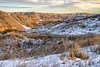 Winter time in the South Dakota Badlands