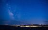 Night falling over the South Dakota Badlands