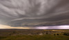 Storm approaches the Pinnacles Overlook in the Badlands of South Dakota