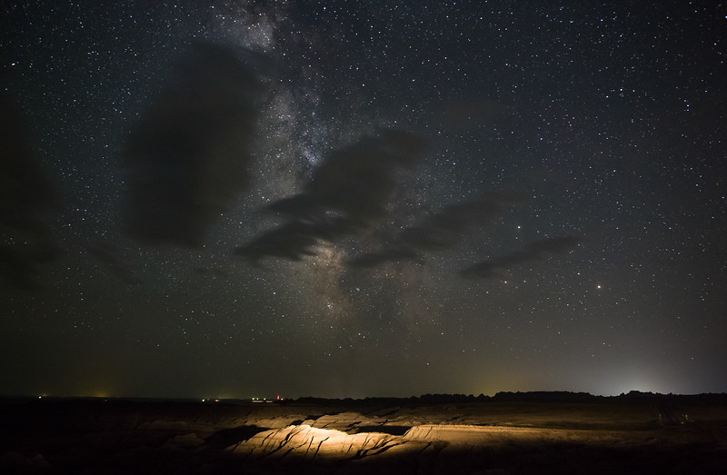 Milky Way over the South Dakota Badlands