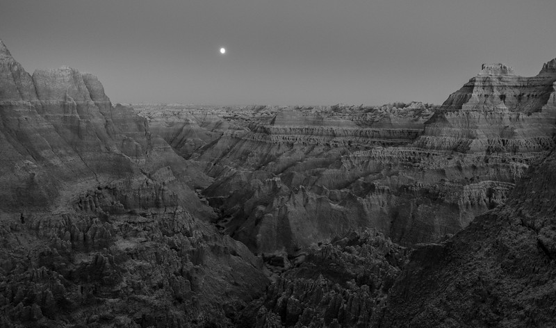 Badlands moonrise