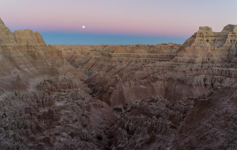 Badlands moonrise