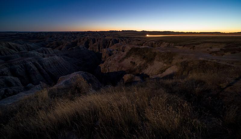 Badlands twilight