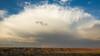Departing storm over the Badlands