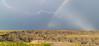 Rainbow lightning in the South Dakota Badlands
