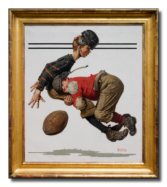 """Boy Making Football Tackle"""