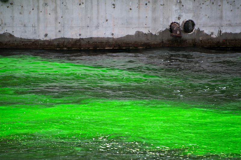 Green Chicago River, St. Patrick's Day