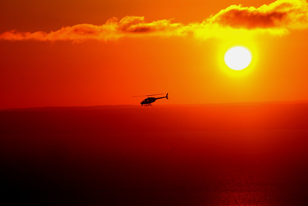 Chopper at Sunset
