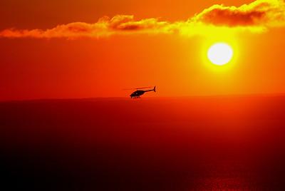 Chopper at Sunset