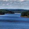 Sept 27<br /> A beautiful day at Jordan Lake<br /> <br /> Closeup of the far regions of the lake
