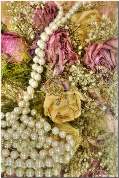 A former wedding bouquet