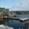Feb 13<br /> Snowfall on Jordan Lake
