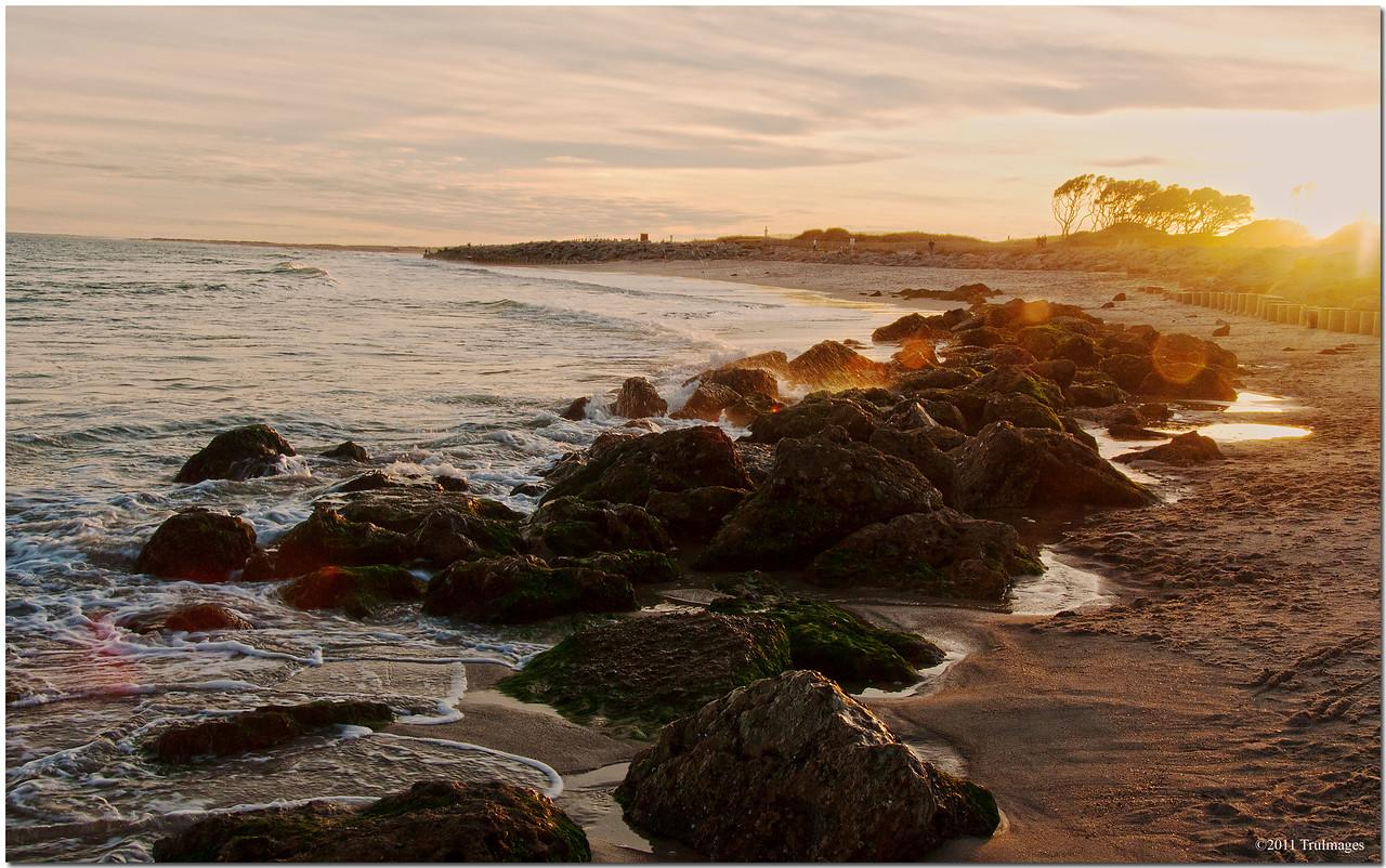 Nov 26<br /> Rocky coastline<br /> Kure Beach NC