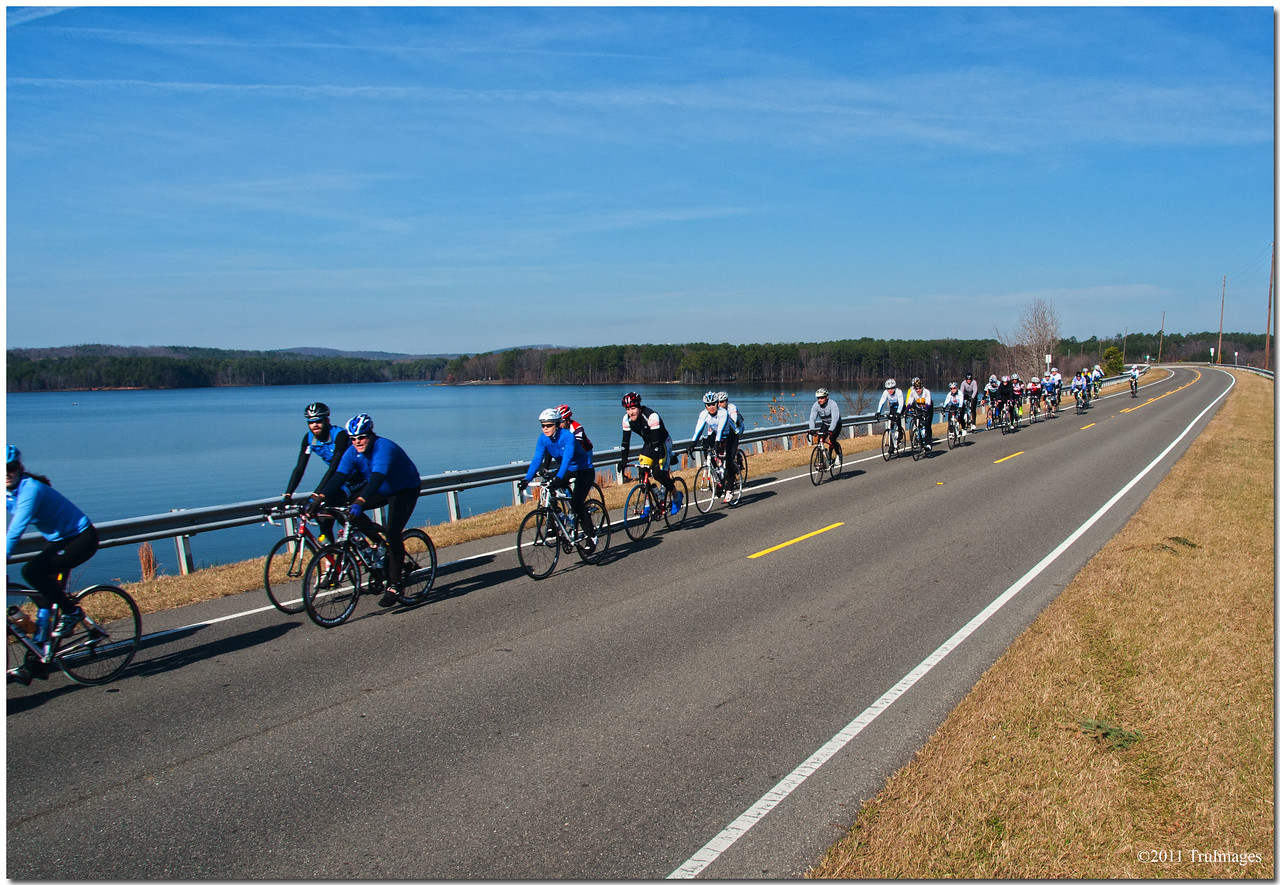 Dec 4<br /> Cyclists enjoying the warmth of December