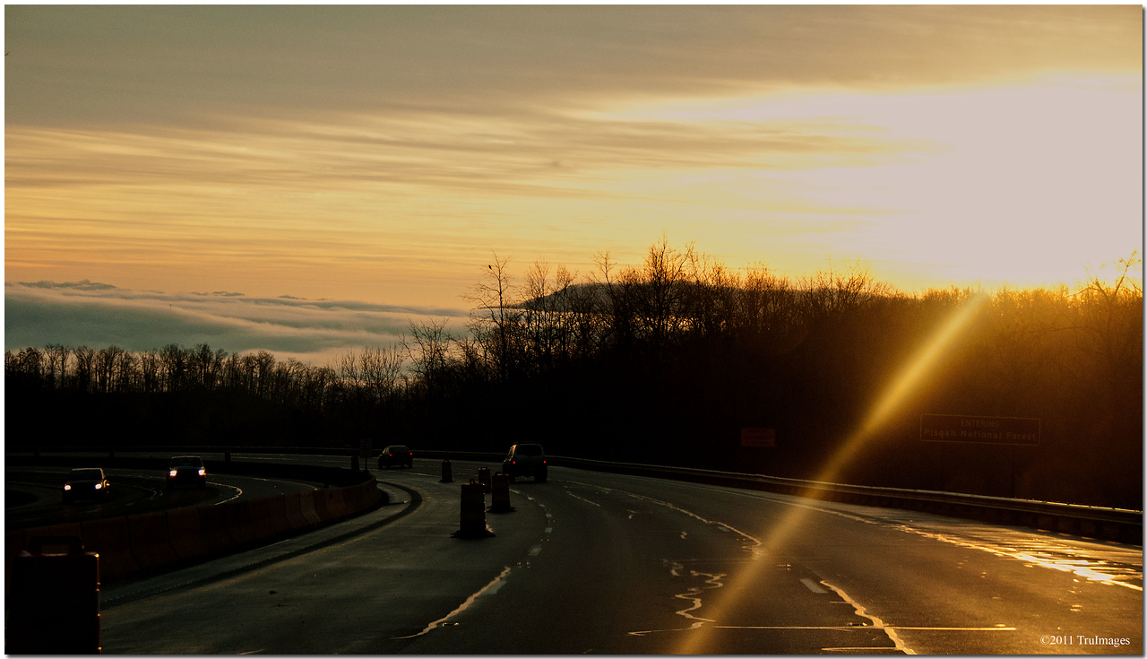 Dec 22<br /> A foggy morning in the Appalachian Mountains of Asheville NC
