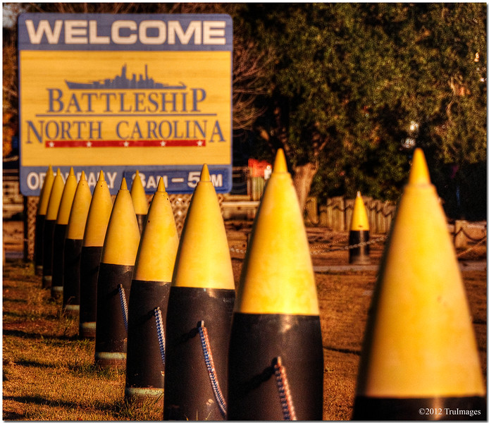 Dec 14<br /> Fire in the hole!<br /> <br /> These are shells that were used on the USS North Carolina during World War II.The battleship is now moored across the river from downtown Wilmington, North Carolina.<br /> <br /> Thanks for all of your wonderful comments!!