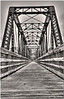 Sept 9 <br /> new path<br /> <br /> This abandoned railroad trestle has been reincarnated.  A B&W conversion was the perfect choice for this old timer!
