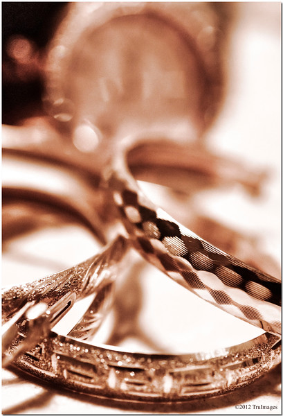 Aug 30 <br /> macro gold <br /> <br /> More studio attempts to push myself out of my comfort zone!<br /> The different patterns of the bracelets caught my eye..