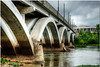Sept 7 <br /> Dan river bridge <br /> <br /> Day trip on Labor day to Danville Va. I had hoped the skies would clear but it remained cloudy throughout the day.  However, overcast conditions allowed me to shoot during midday hours.<br /> So it turned out to be a good day after all!